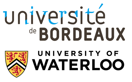 University of Bordeaux and University of Waterloo logos