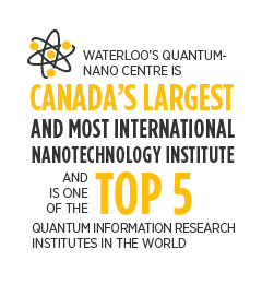 Waterloo's Quantum-nano centre is Canada's largest and most international nanotechnology institute and is one of the top 5 quantum information research institutes in the world