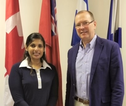 Ishari Waduwara-Jayabahu and Canadian High Commissioner to Sri Lanka and the Maldives