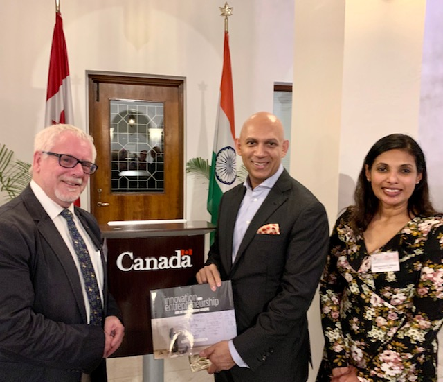Waterloo Delegation meets with Canada's High Commissioner to India