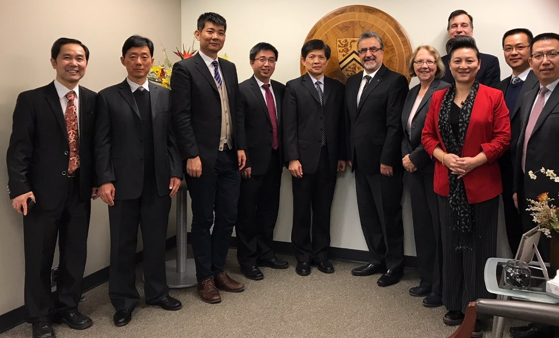 Delegates from the Nanjing university of finance and economics at the university of Waterloo