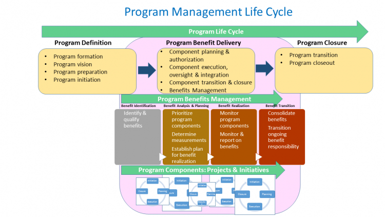 Program Life Cycle diagram shows the 3 cycle phases as described above