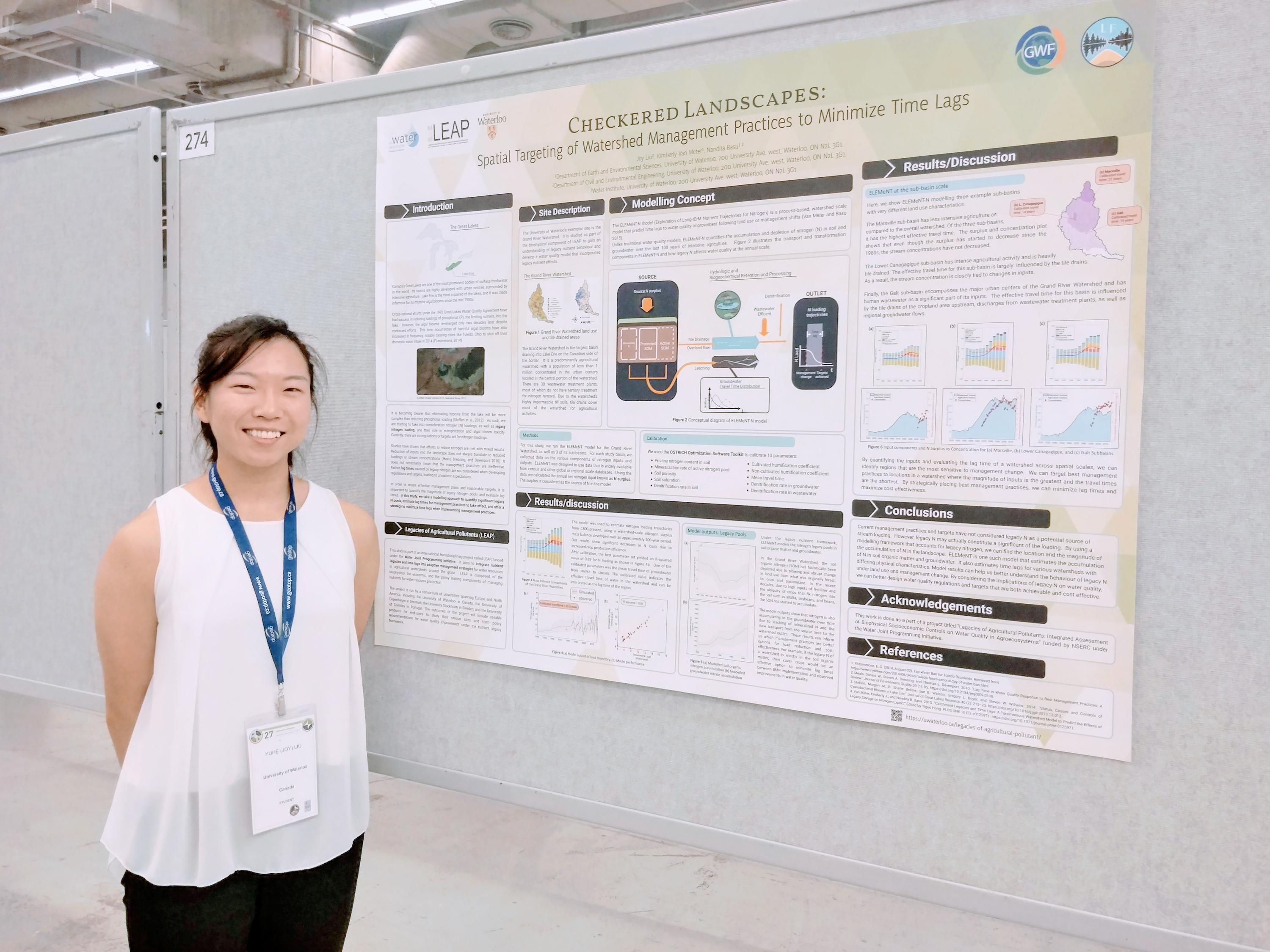 Joy Liu presents her poster at CGU