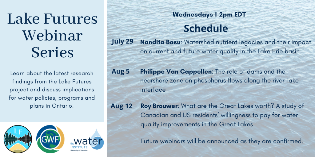 Lake Futures Webinar Series Announcement and Schedule