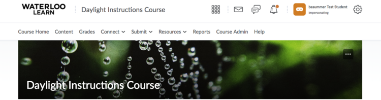 Image of instructor view of the course navbar
