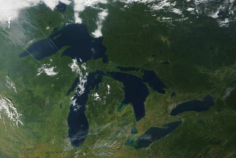 Great Lakes Satelitte Image
