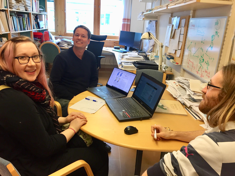 Tamara and Stockholm researchers in meeting