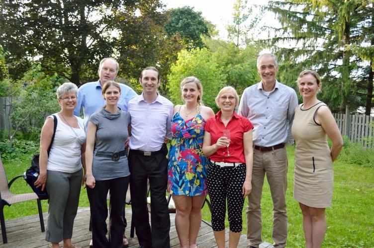 June 2015: Liz & Robbie's PhD Defence Celebration
