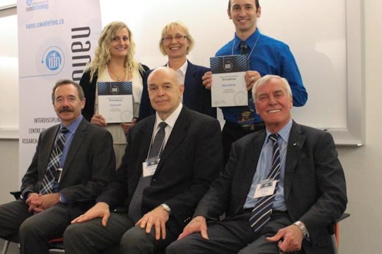 November 2012: Liz and Robbie receive WIN awards