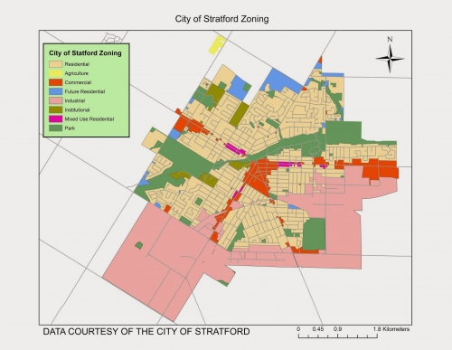Kitchener Zoning Map Zoning data (2014) for the City of Stratford | Geospatial Centre