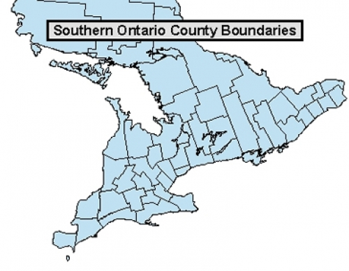 Map Of Ontario Canada Townships Ontario county and township boundaries | Geospatial Centre