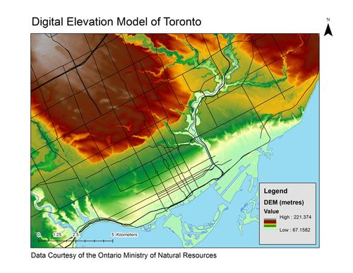 Greater Toronto Area (GTA), Digital Elevation Model (DEM) 2002