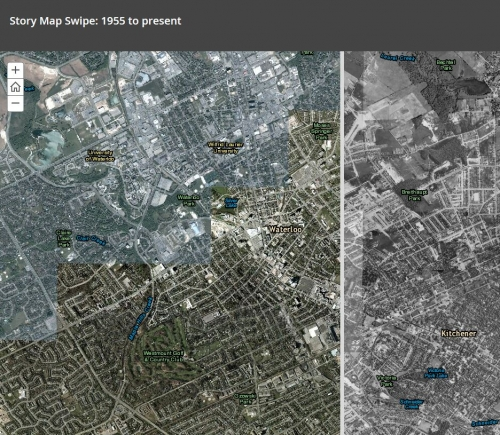 showing Kitchener in 1955 to present