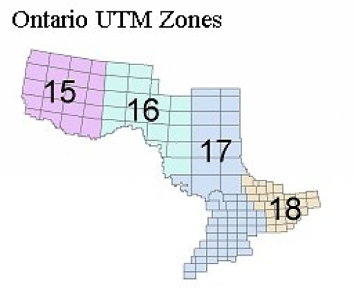 Indexes to natural resources and values information system nrvis map shows the universal transverse mercator utm zones within ontario gumiabroncs Image collections