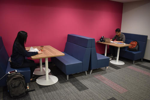 New third-floor study booth, Dana Porter Library