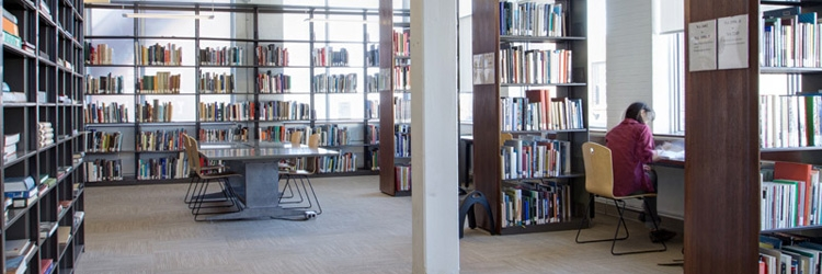 Study are in the Musagetes Library