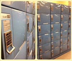 lockers on the sixth floor