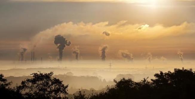 pollution over skyline