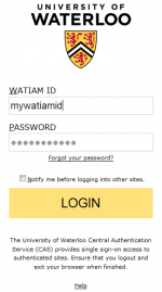 You'll must use your WATIAM ID and password.