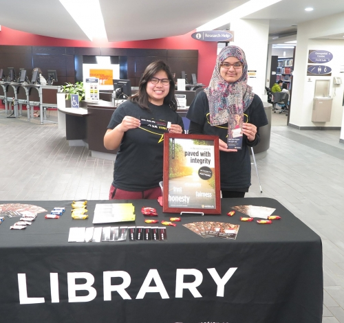 Library Ambassadors at Academic Integrity event