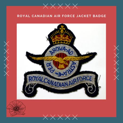 Royal Canadian Air Force Jacket Badge