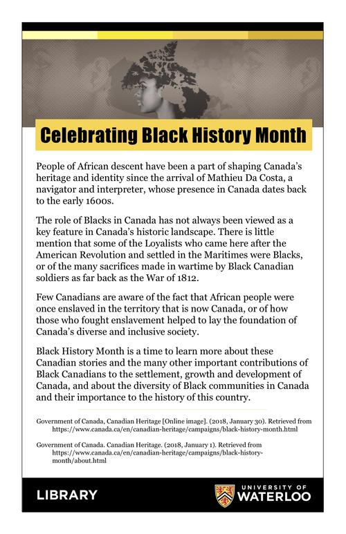 Sign with some Canadian Black History information