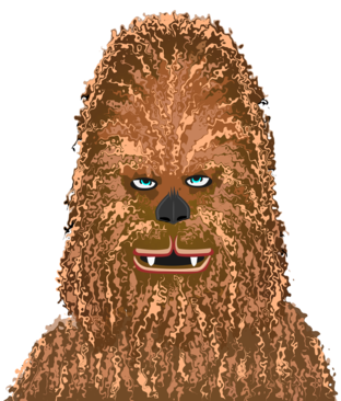 painting of Chewbacca from Star Wars