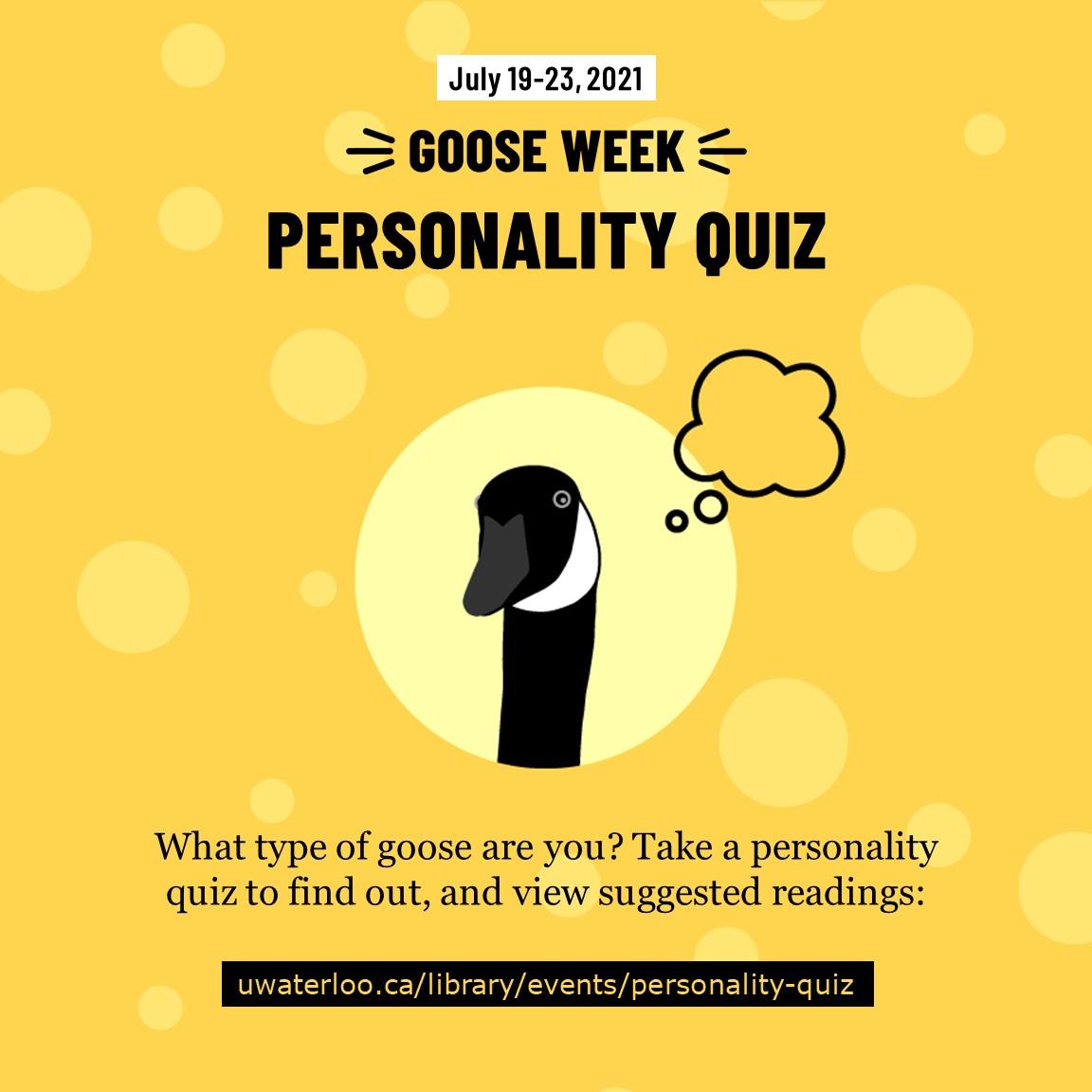 Goose Week 2021 Personality Quiz