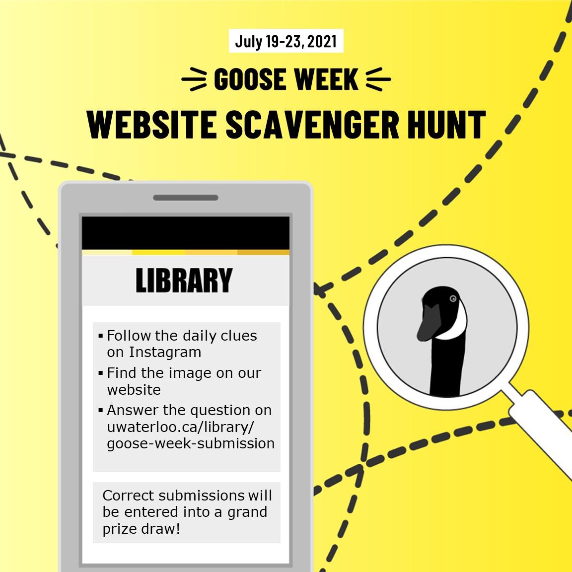Goose Week 2021 Website Scavenger Hunt