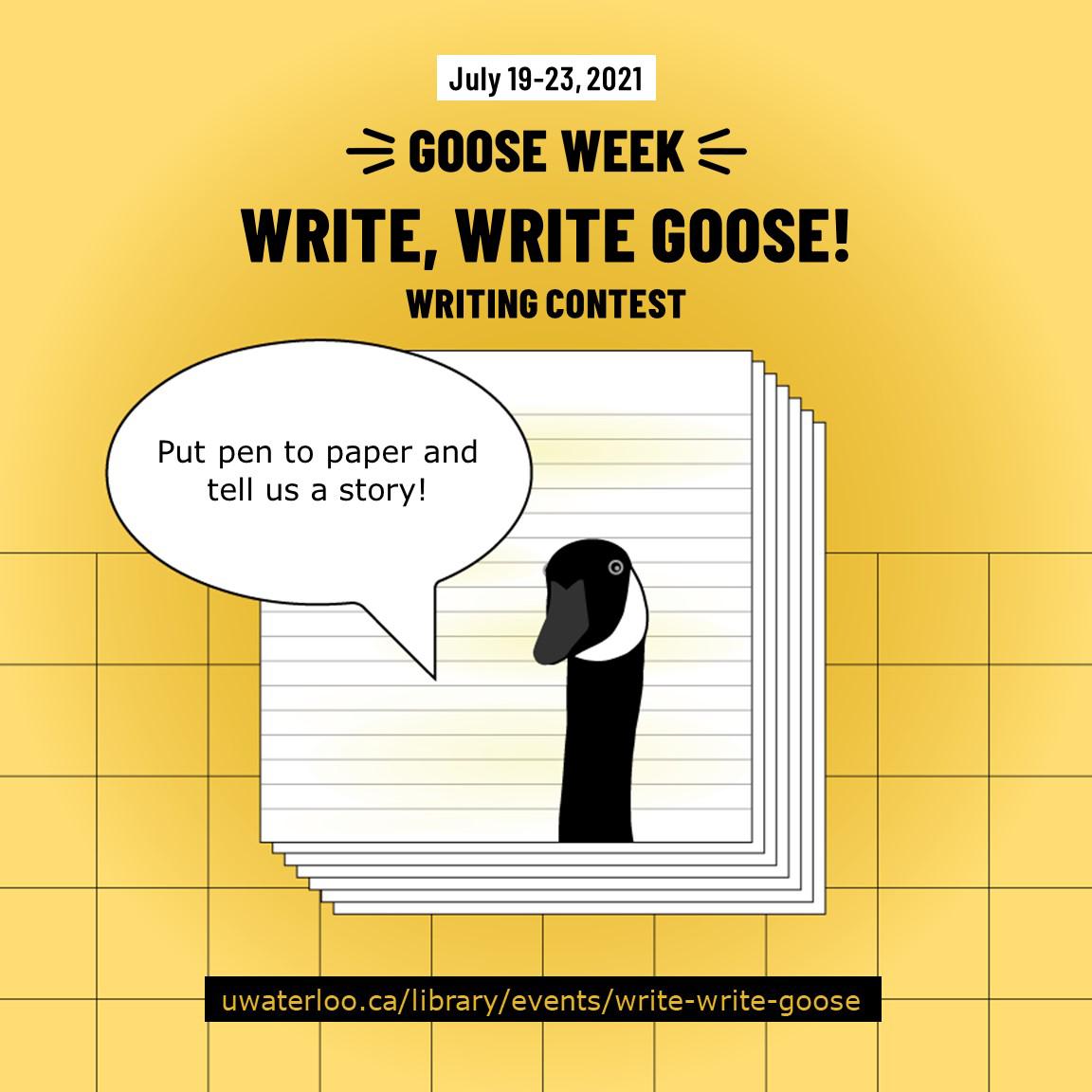 Goose Week Writing Contest