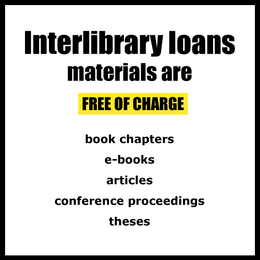 Interlibrary loans materials are free of charge