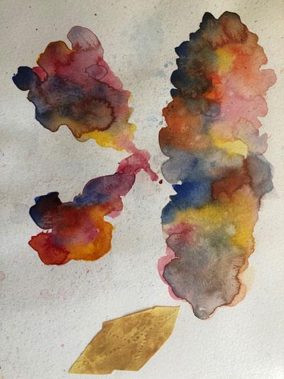 "Artwork by Ni Zhan entitled ""Pensee"""