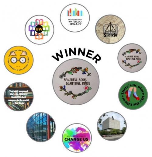 top ten button designs showing the #1 winner