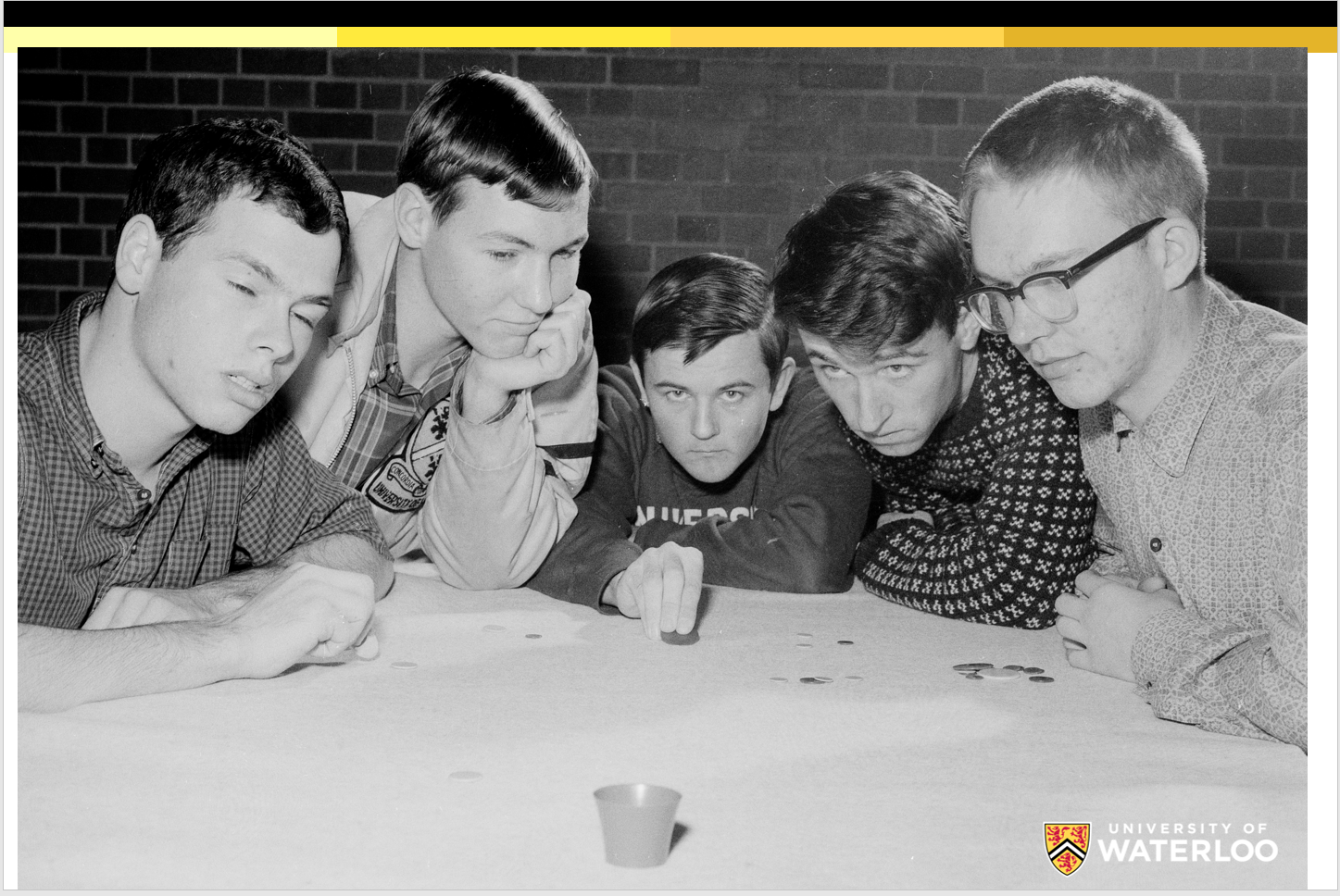 1960s students playing Tiddlywinks