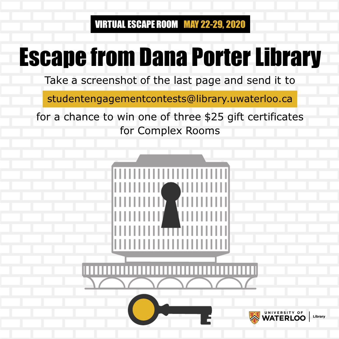 Virtual escape room, escape from Dana Porter Library