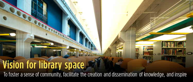 Vision for library space banner