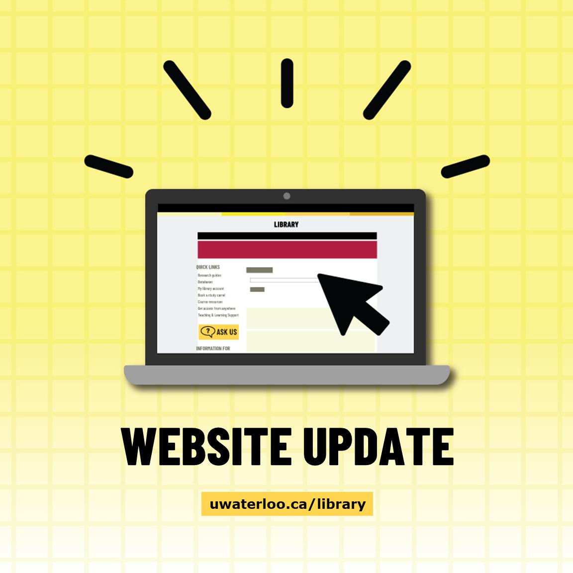 Website update uwaterloo.ca/library