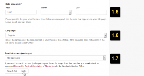 Screenshot of the web form showing the steps described in the accompanying text