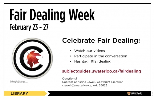 Fair Dealing Week - February 23-27 poster