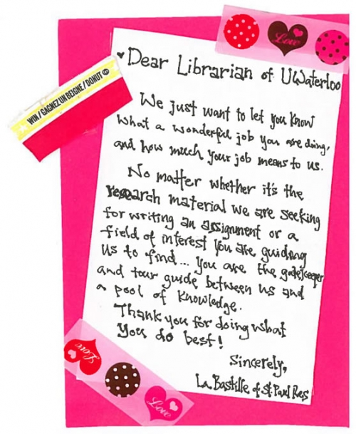Love letter to a librarian | Library