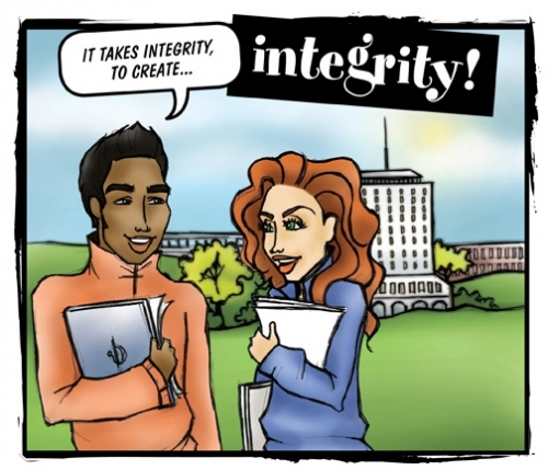 """It takes integrity to create integrity,"" says students"