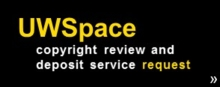 UWSpace copyright review and deposit service request