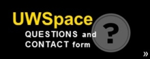 UWSpace questions and contact form.
