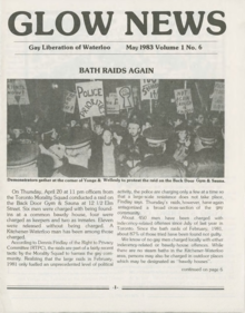 Cover of GLOW News (May 1983)