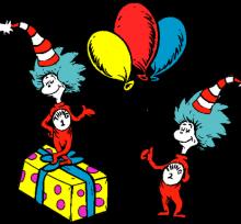 Dr. Seuss birthday drawing