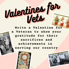 Valentine for vets graphic