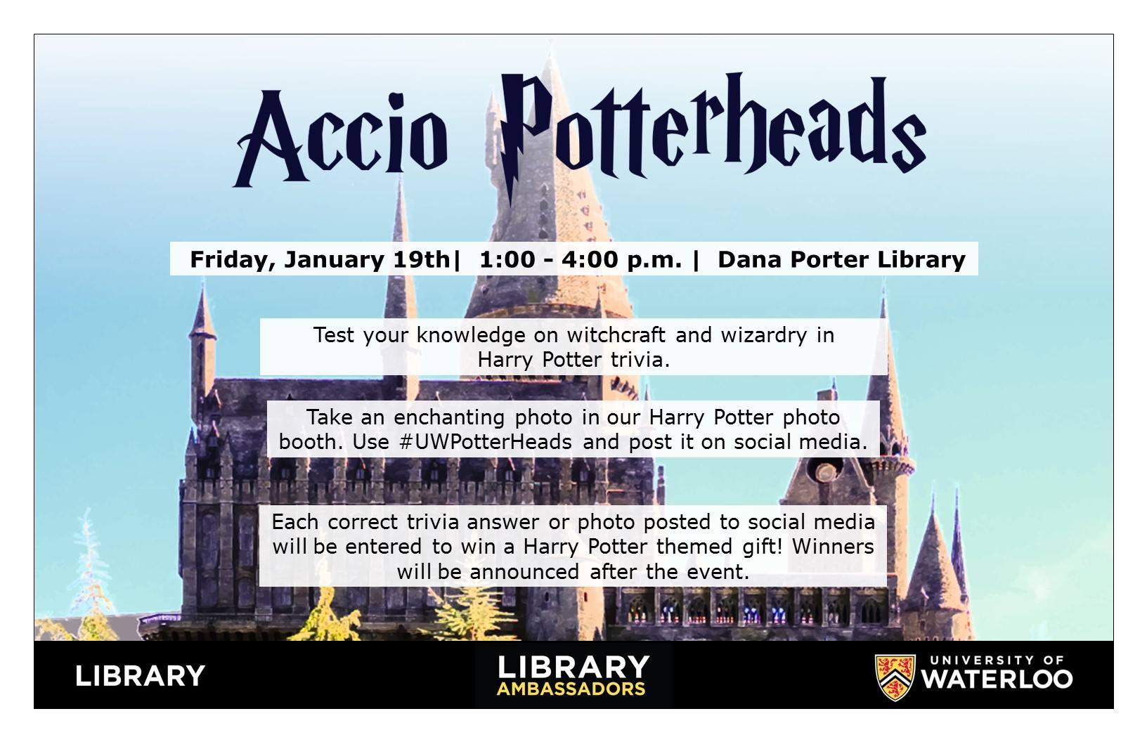 Accio Potterheads poster