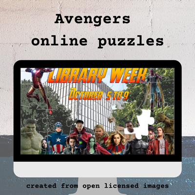 Avengers online puzzles created from Creative Commons images