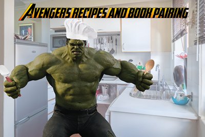 Avengers recipe and book pairings