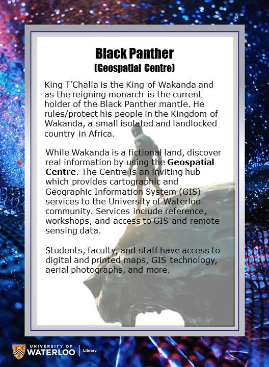 Black Panther (Geospatial Centre)